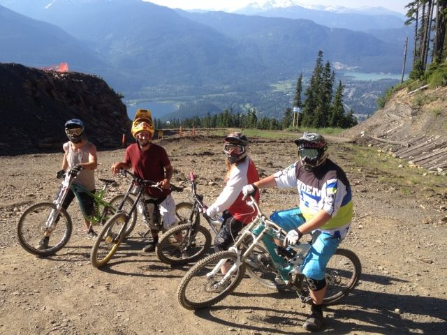 Paul Stewart and friends Whistler Bike park
