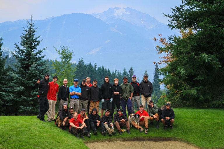 Nicklaus North maintenance crew  summer 2014 whistler mountain