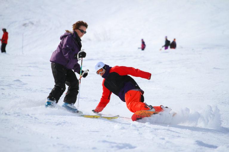 Snowboarder in Morzine, Avoriaz, France